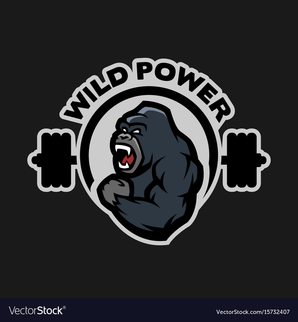 Angry gorilla sports gym logo Royalty Free Vector Image for Gym Logo Pictures  117dqh