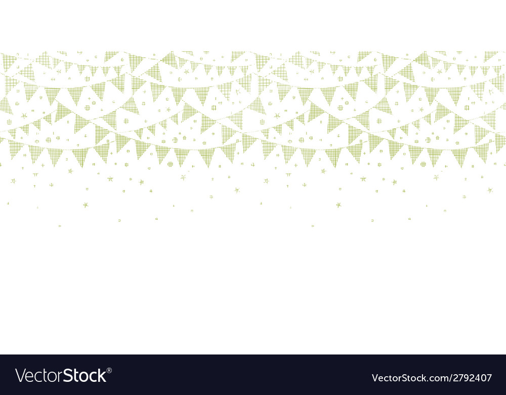 Green Textile Party Bunting Horizontal Seamless vector image