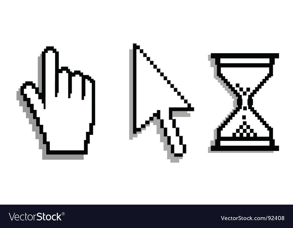 Computer cursors vector image