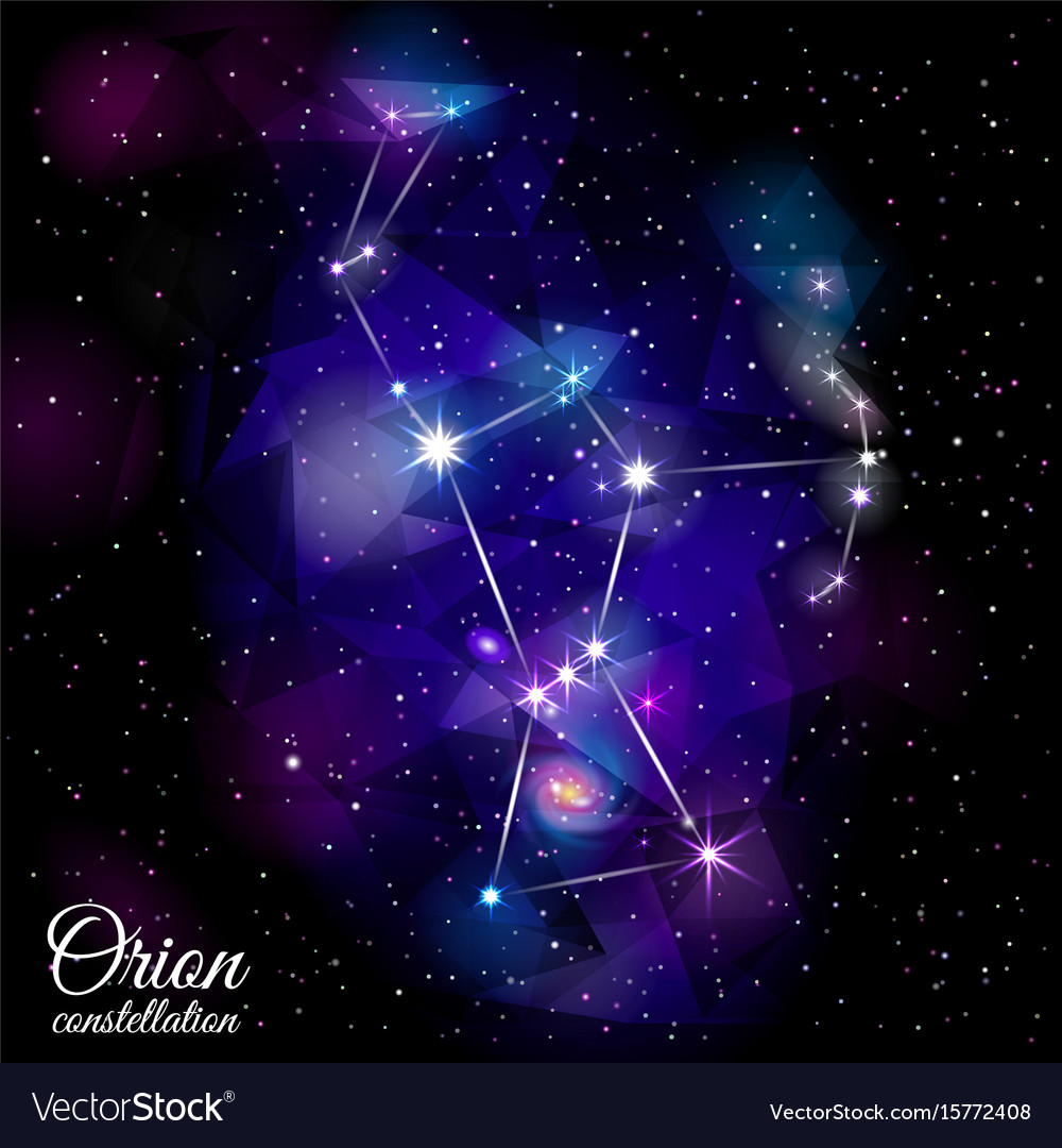 Orion constellation vector image