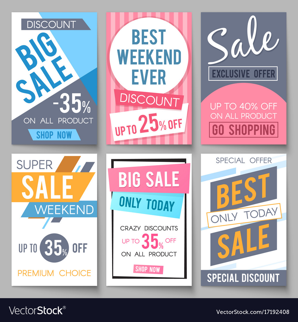 Sale Posters Template With Discount And Royalty Free Vector Sale Posters  Template With Discount And Vector  For Sale Poster Template
