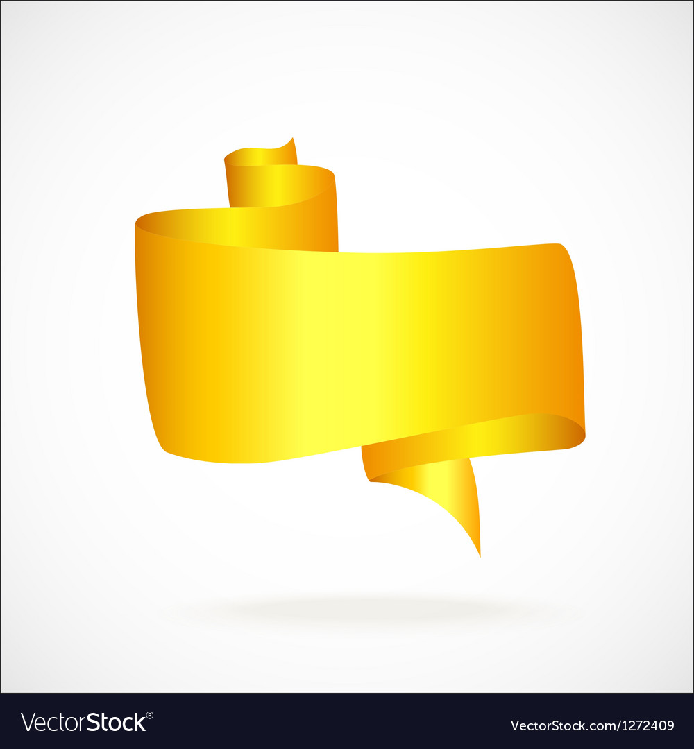 Gold banner for the text vector image