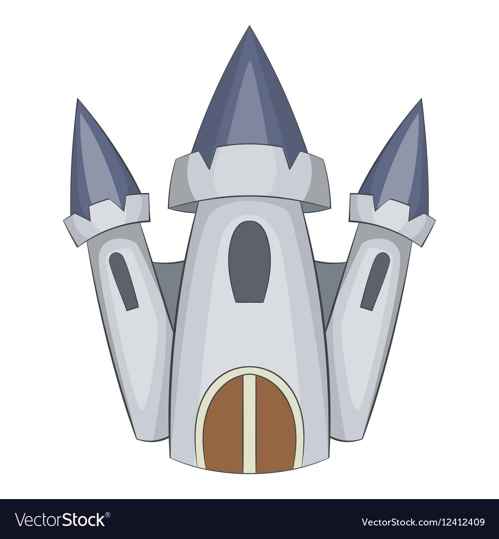 Cute castle icon cartoon style vector image