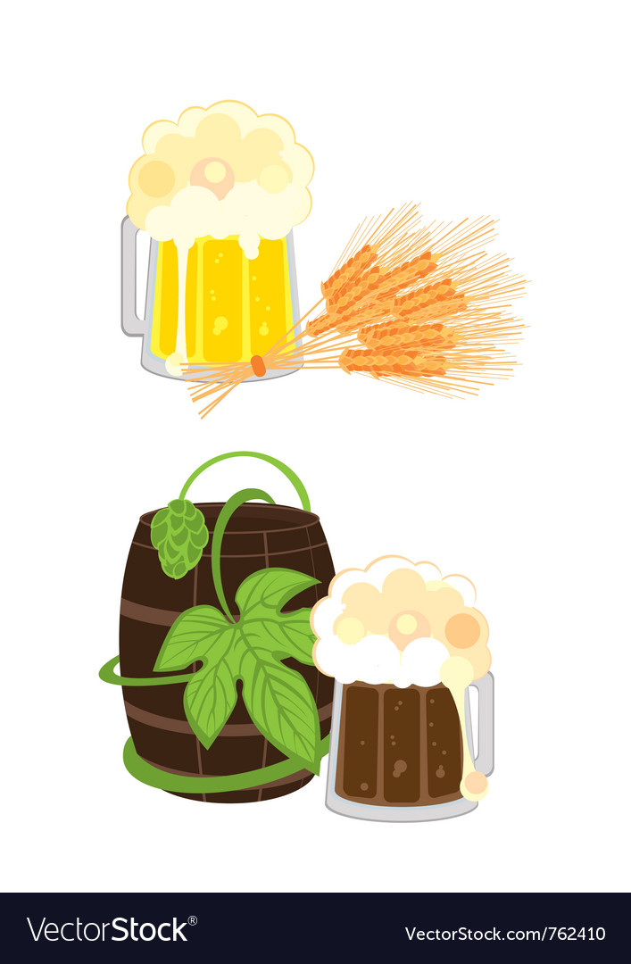 Kinds of beer vector image