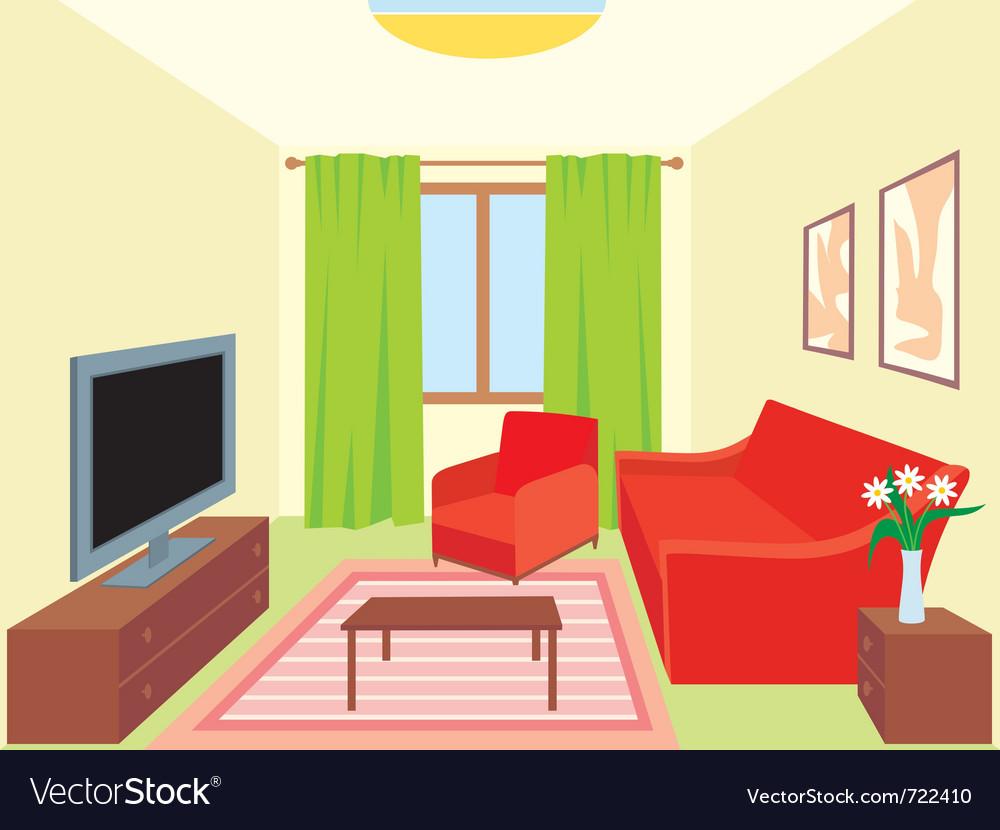 Living room Royalty Free Vector Image - VectorStock
