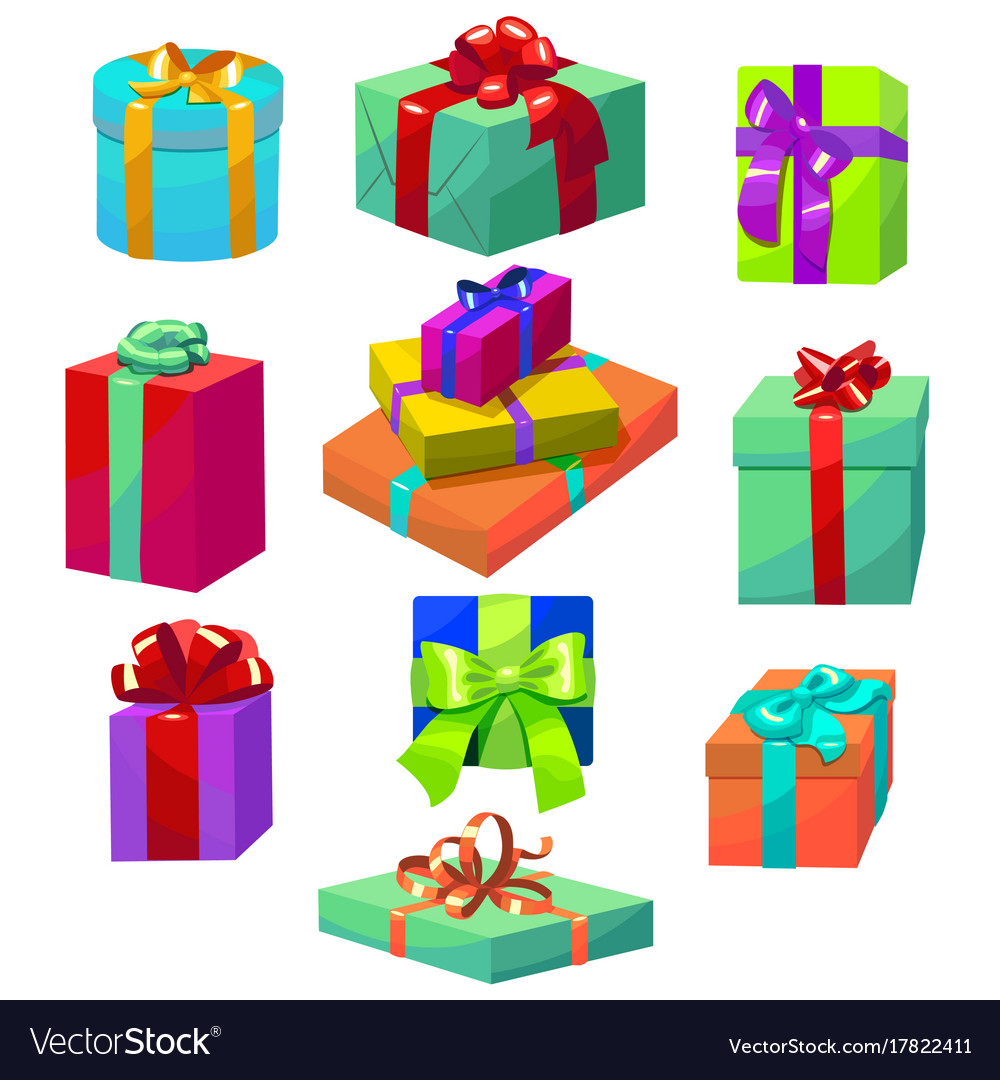 Colorful gift set different gift boxes in cartoon vector image colorful gift set different gift boxes in cartoon vector image negle Gallery