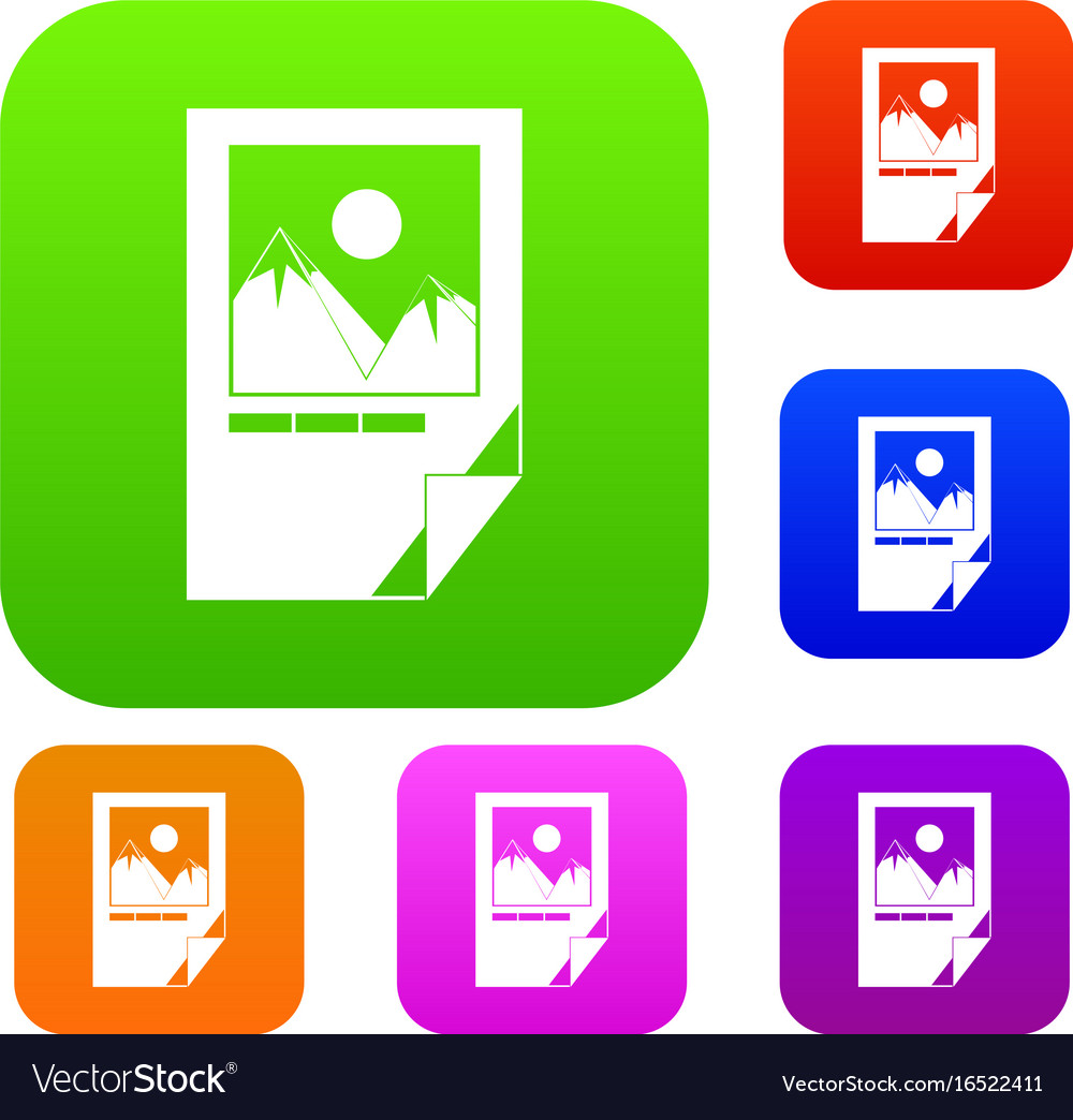 Tested ink paper with printer marks set collection vector image