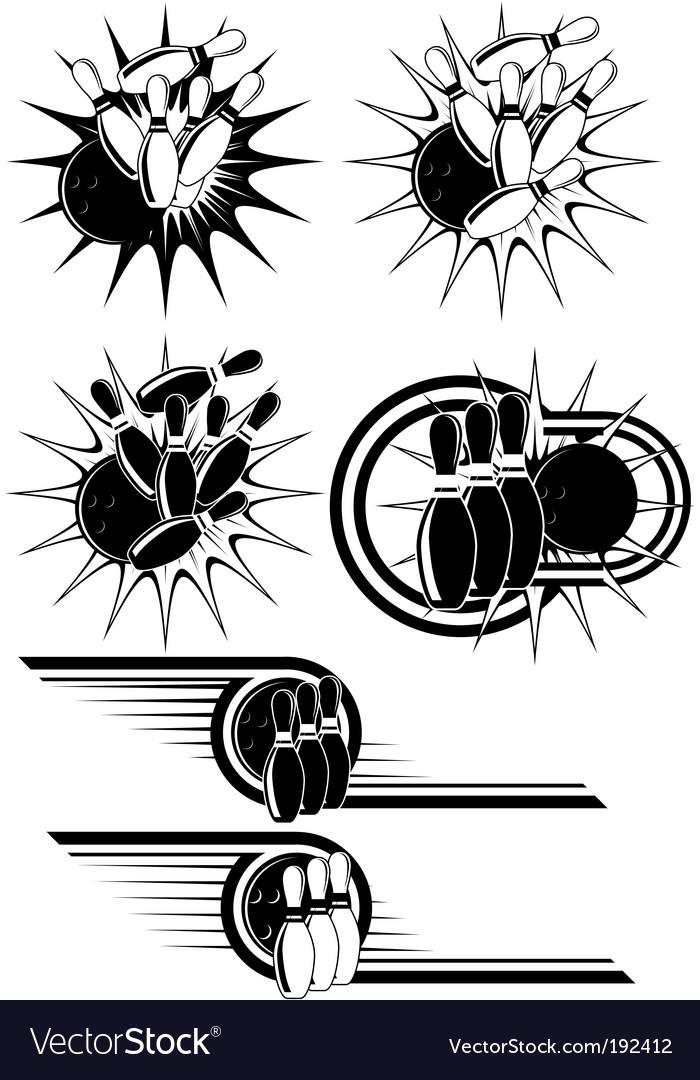 Bowling strike vector image