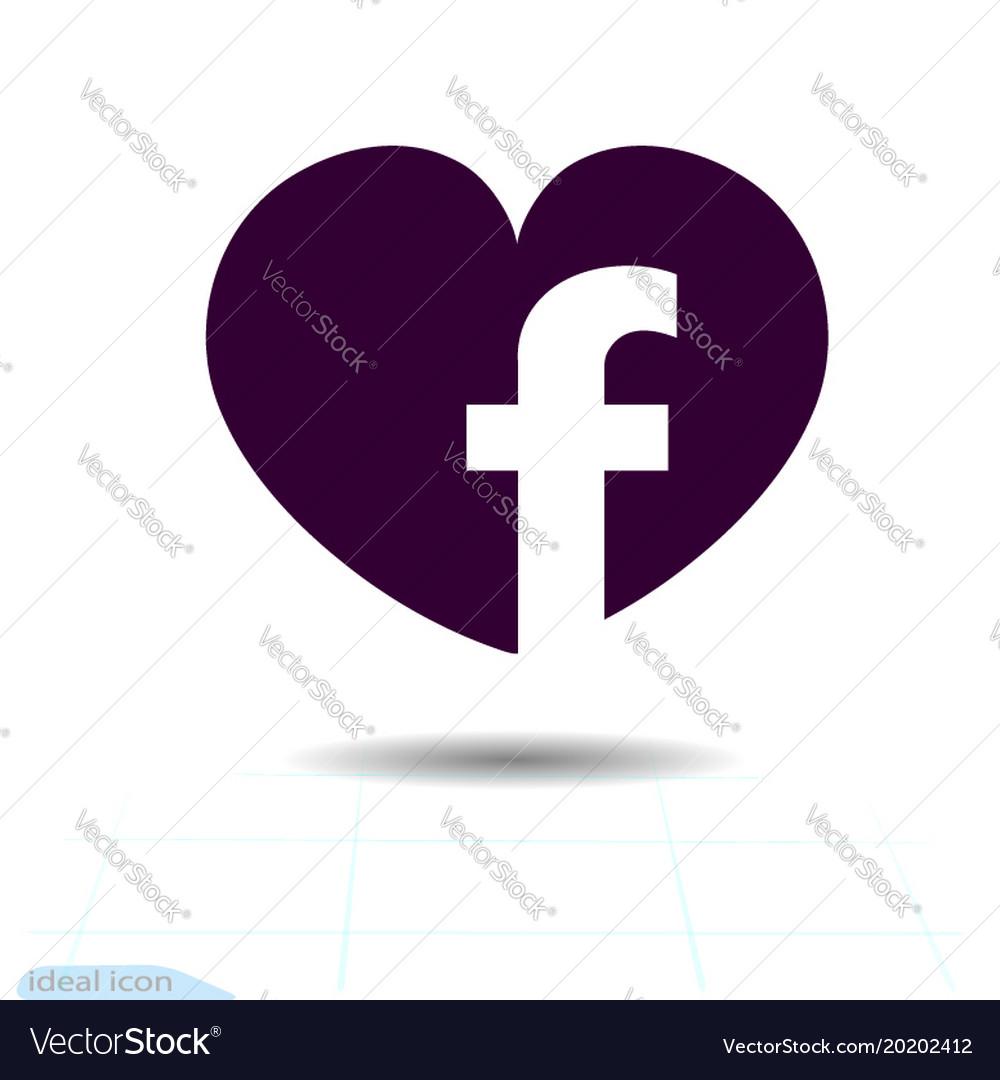 Heart black icon love symbol social facebook vector image biocorpaavc Choice Image