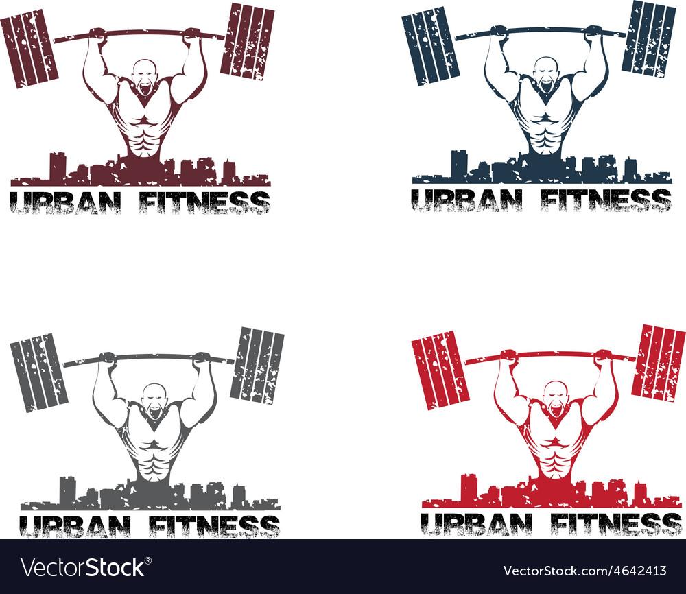 Grunge urban fitness vector image
