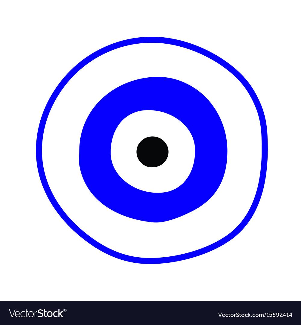 Blue greek evil eye symbol of protection vector image blue greek evil eye symbol of protection vector image buycottarizona