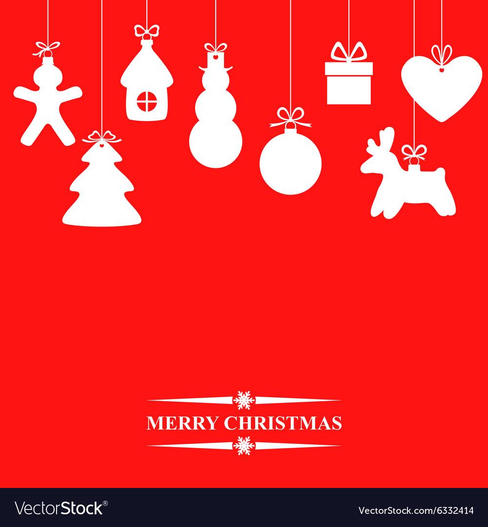 Gift hang red vector image
