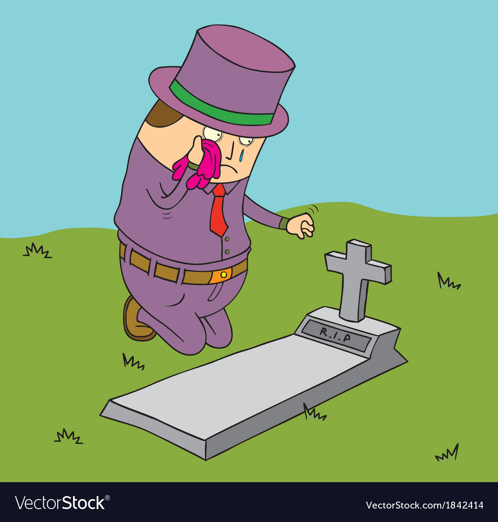 Man mourning vector image