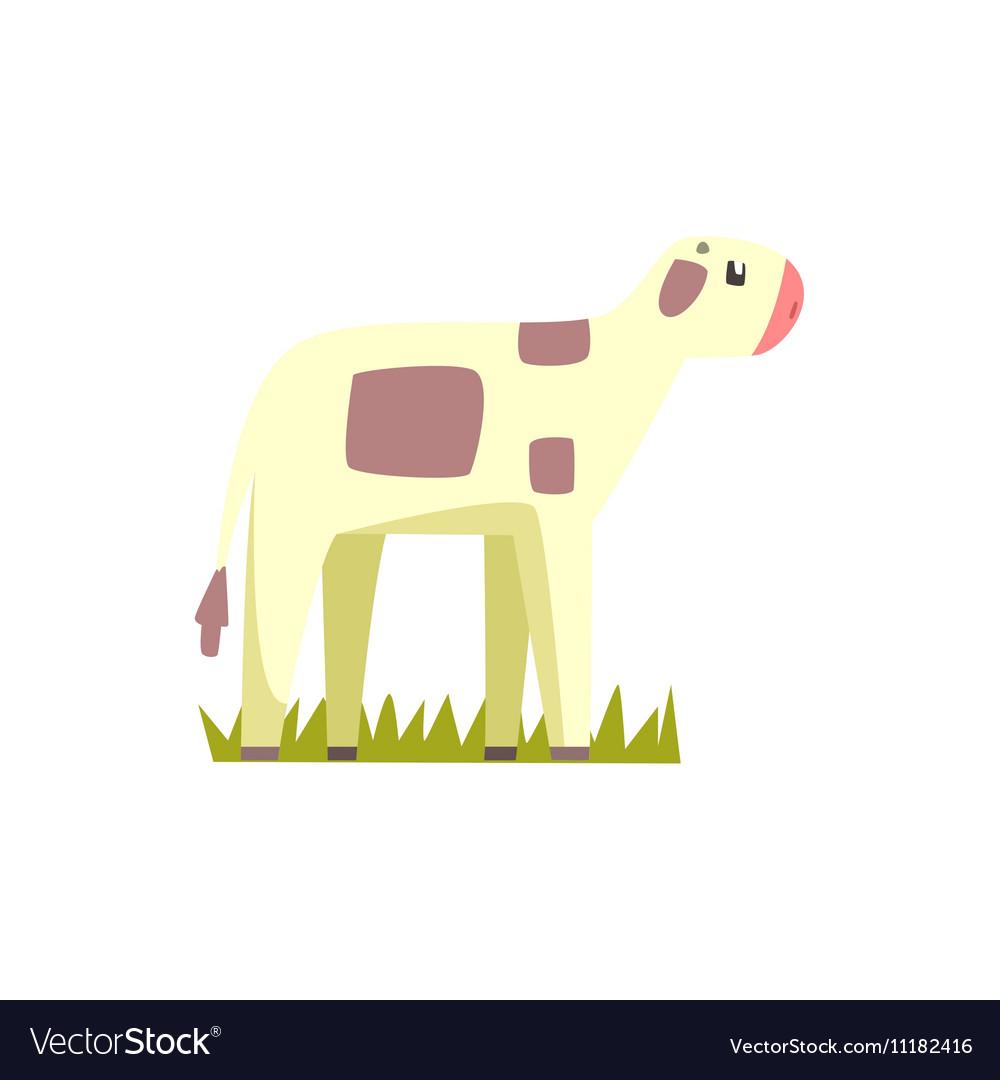Cow Calf Toy Farm Animal Cute Sticker vector image