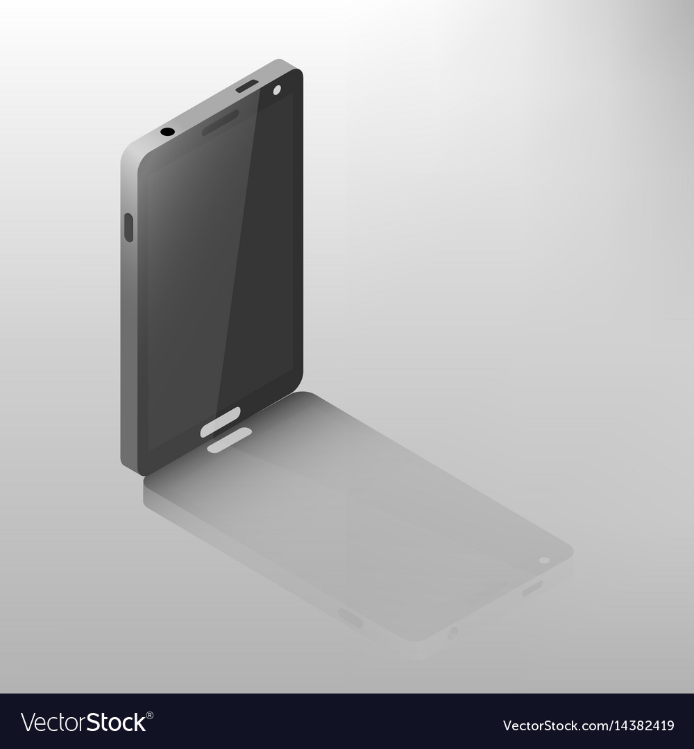 Mobile phone isometric vector image