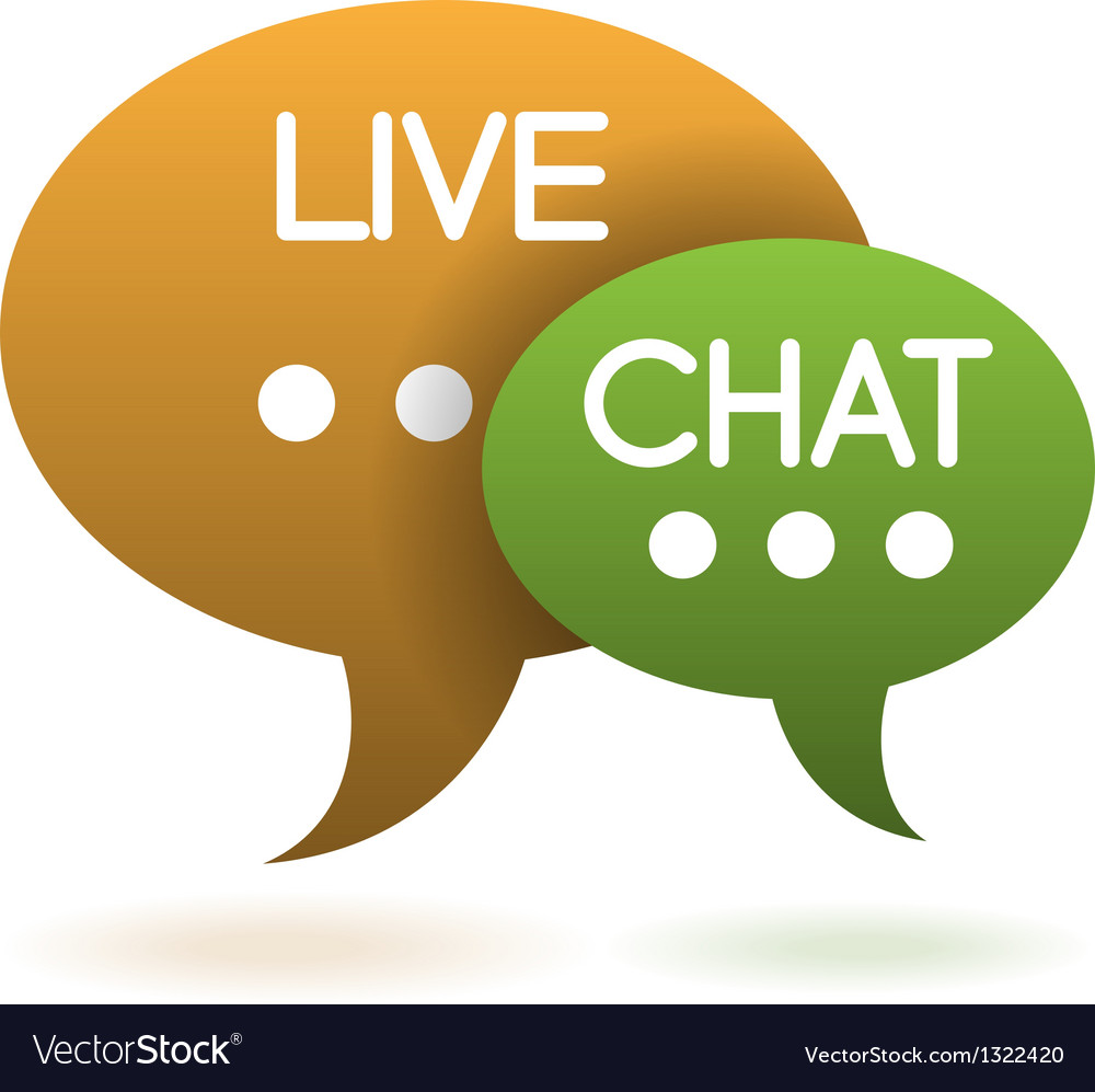Live chat speech balloons icon vector image
