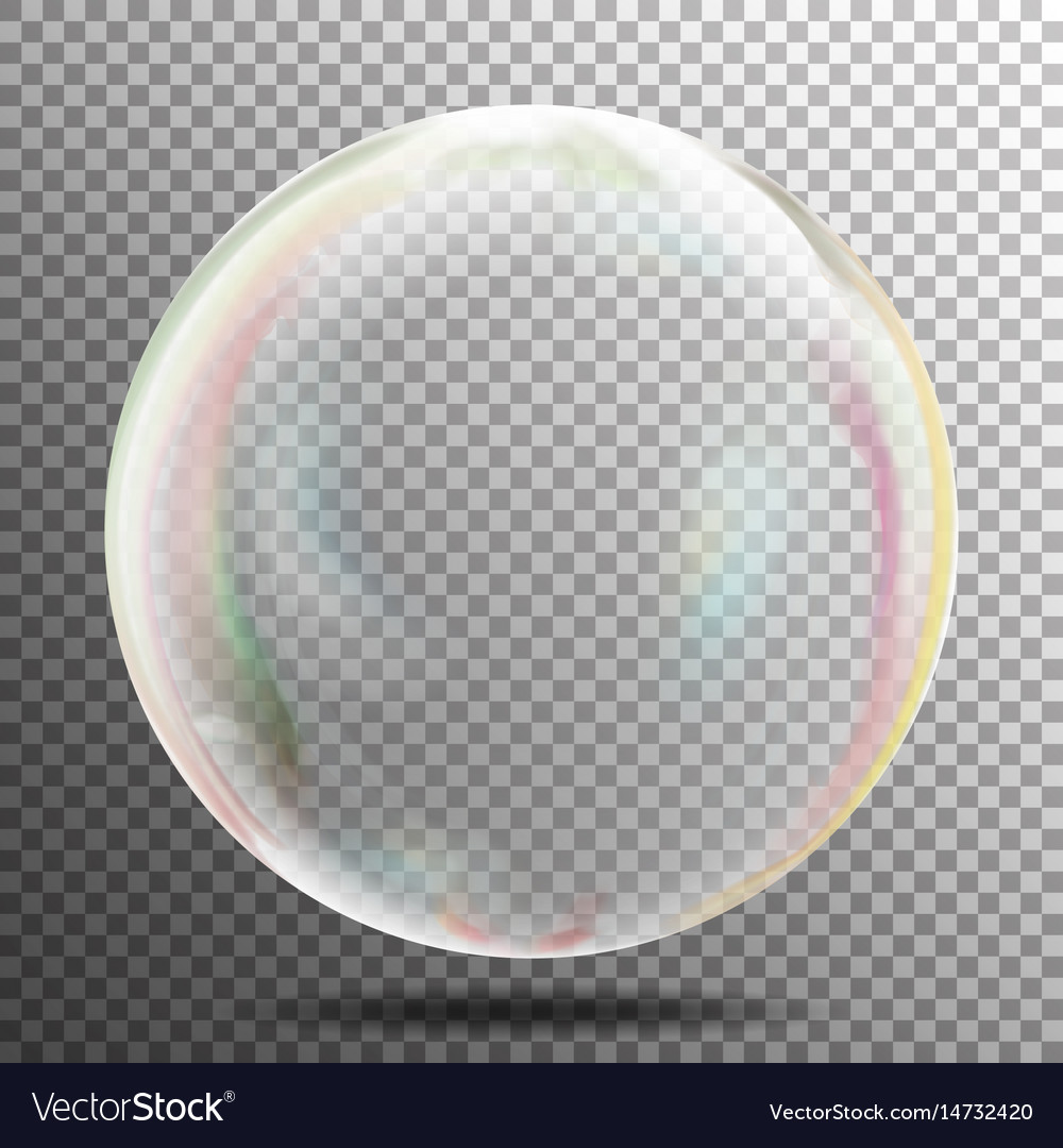 Transparency bubble soap or underwater or water vector image