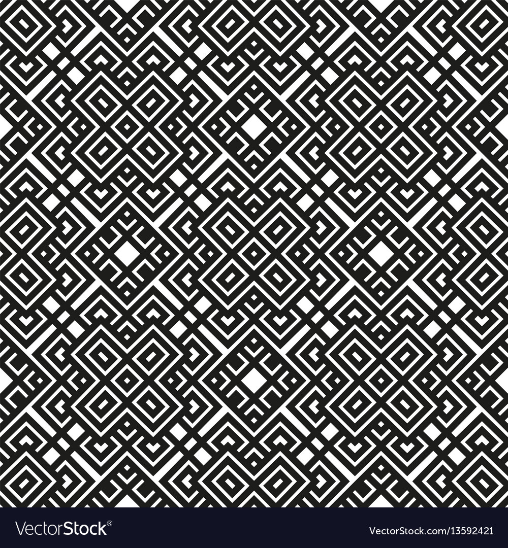 Geometrical seamless pattern black and white color vector image