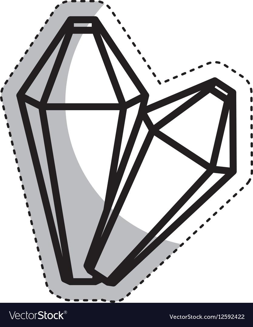 Precious rocks isolated icon vector image