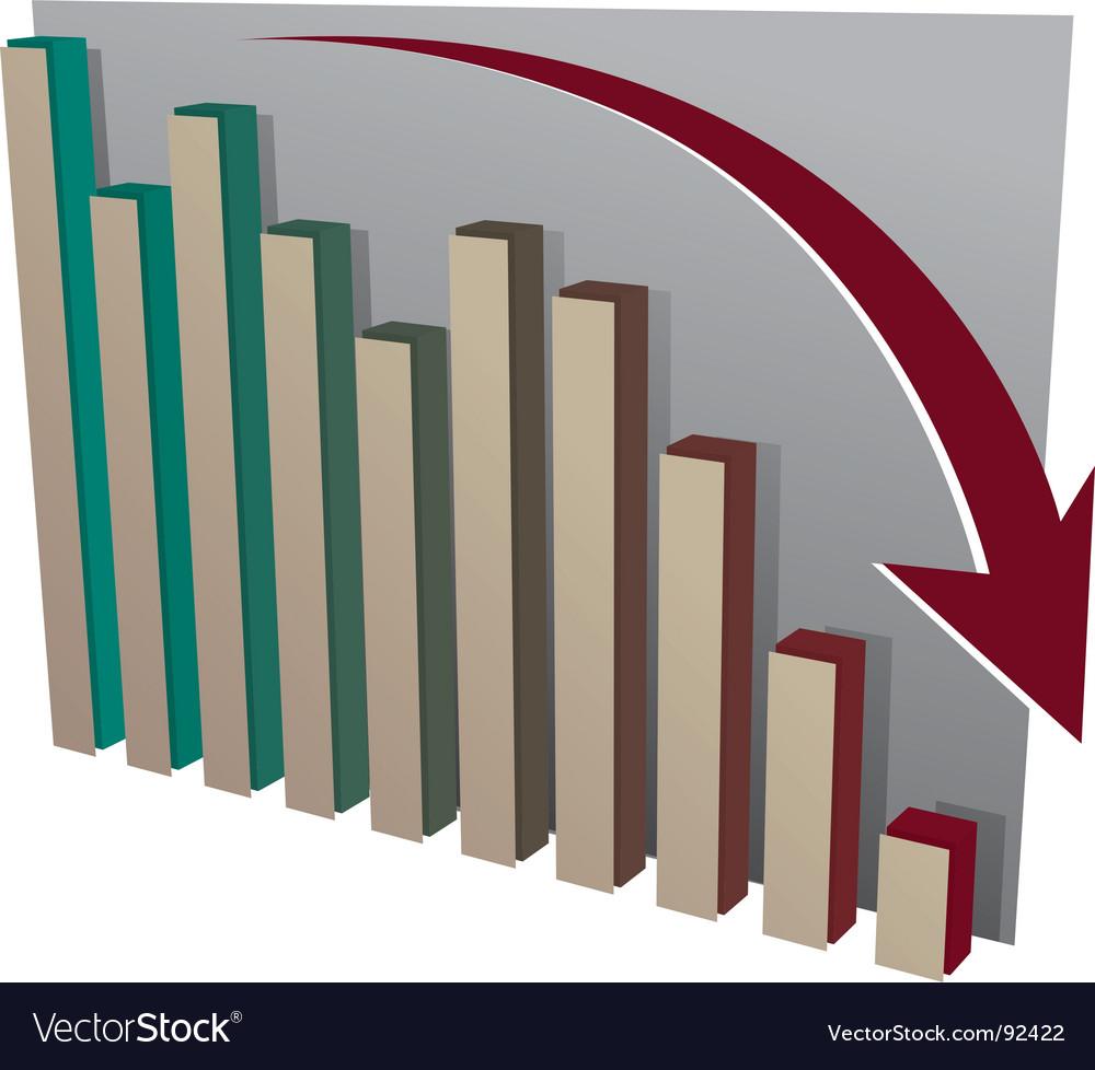 Stock market crash chart vector image