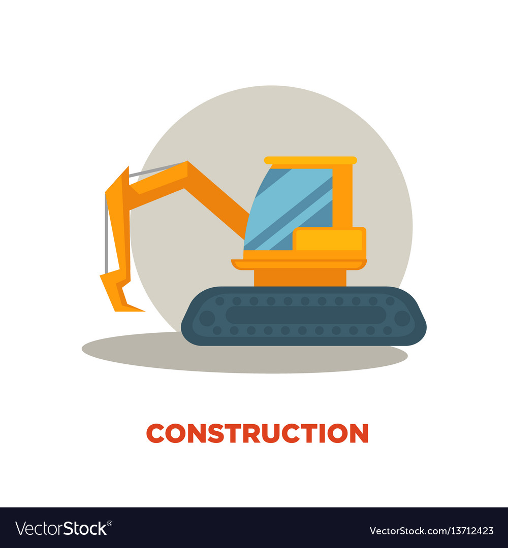 Modern construction technologies promotion banner vector image