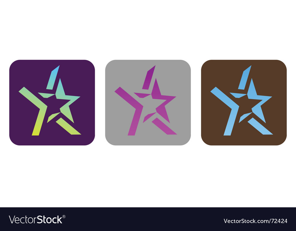 Set of funky stars vector image