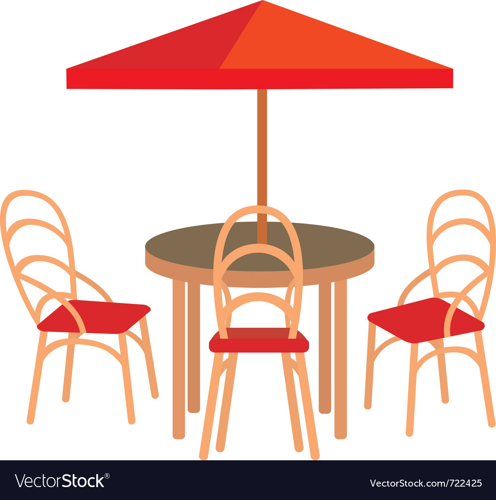 Summer street cafe Vector Image