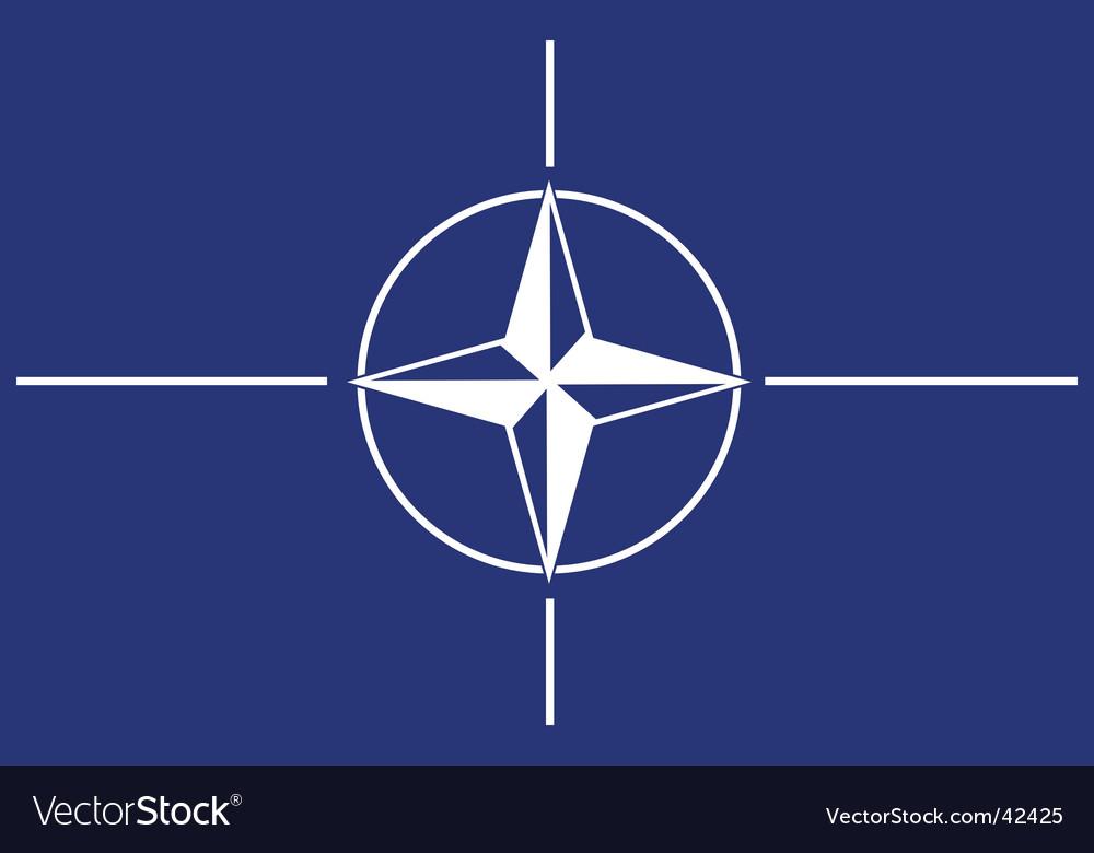 NATO flag vector image