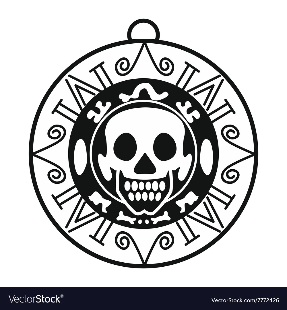 Aztec pirate coin icon simple style royalty free vector aztec pirate coin icon simple style vector image biocorpaavc Images