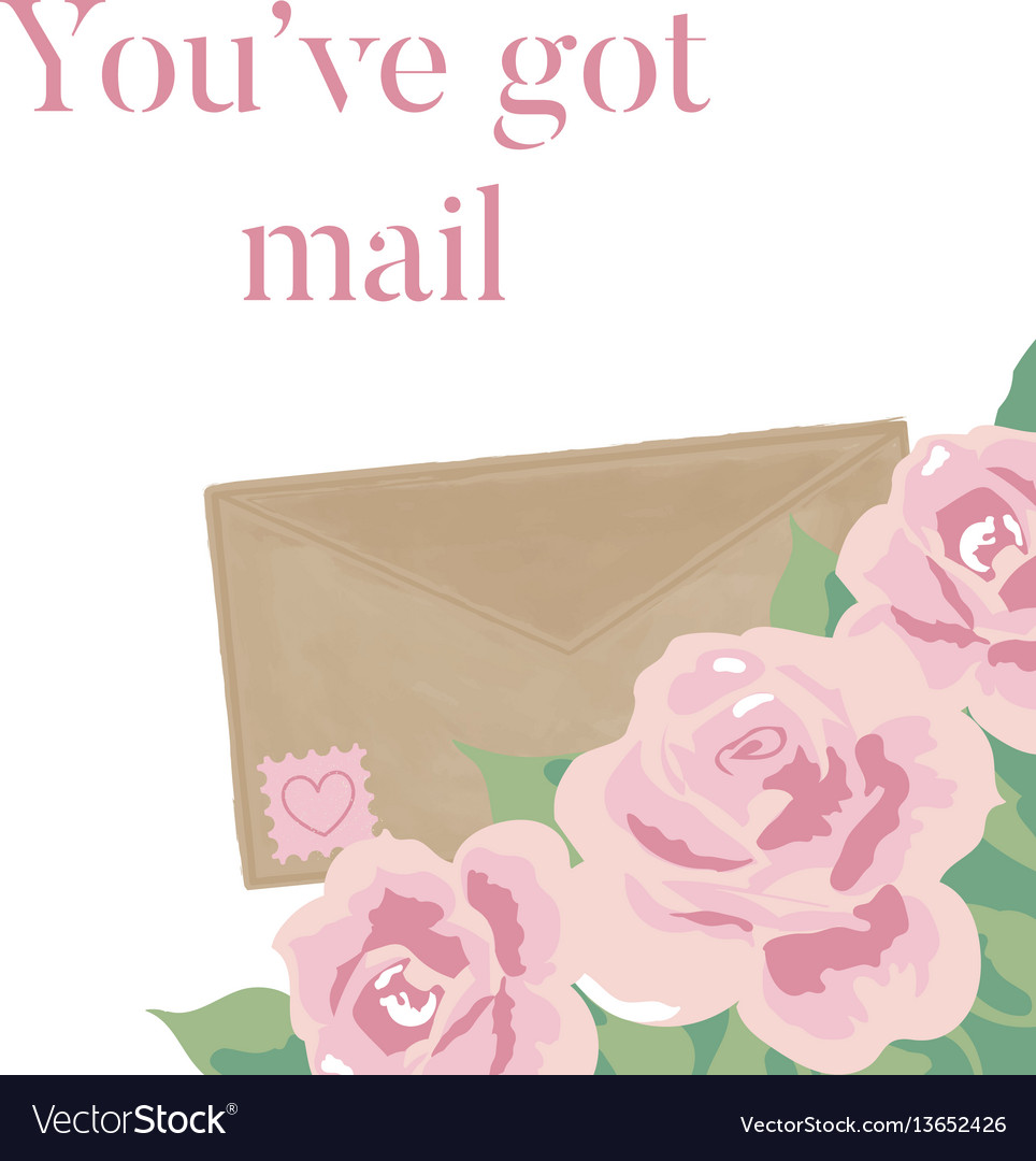 You have got mail romantic vector image