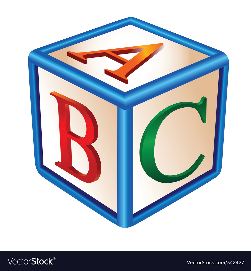 Alphabetical game vector image