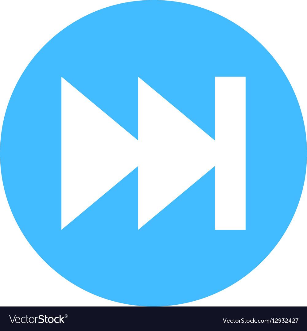 Arrow sign direction icon circle button skip vector image