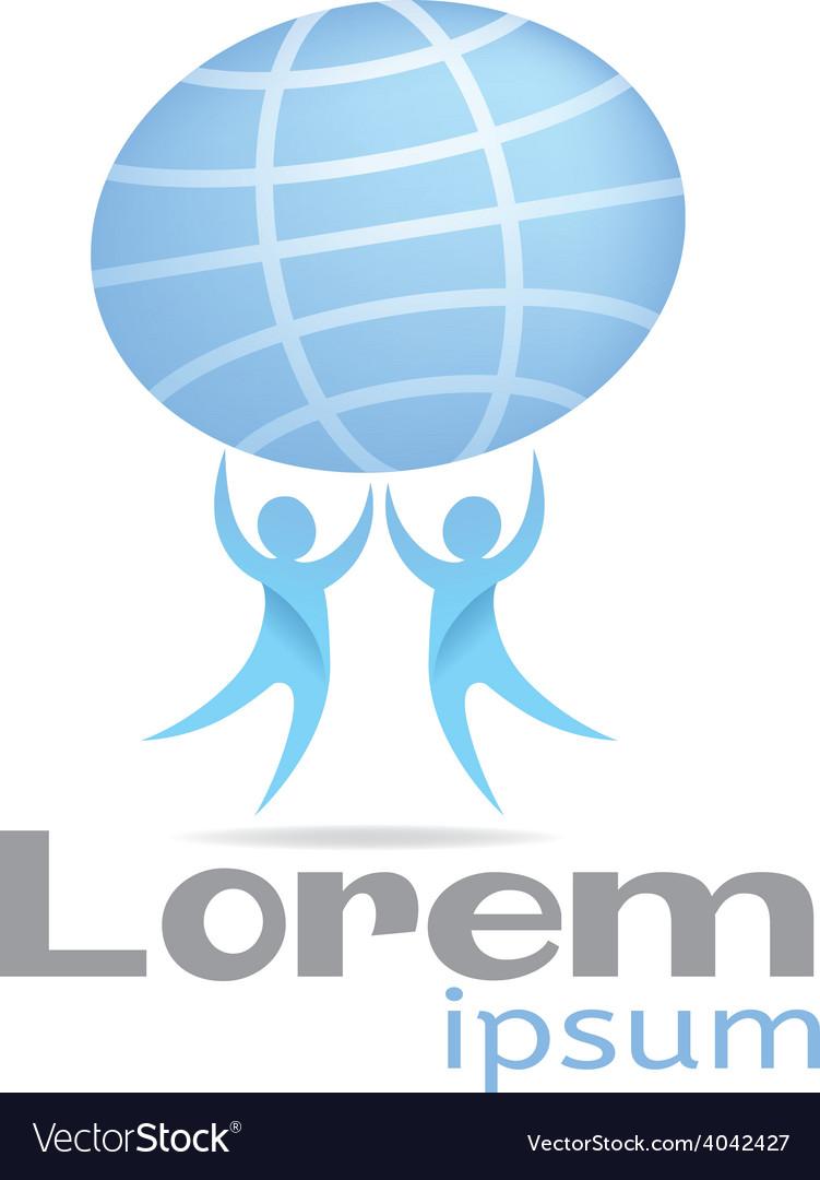 Logo planet vector image