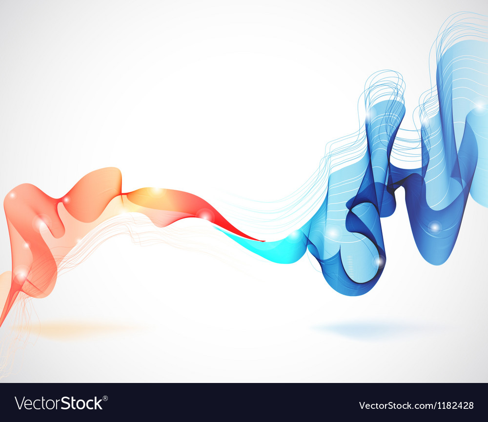 Abstract background with two waves vector image