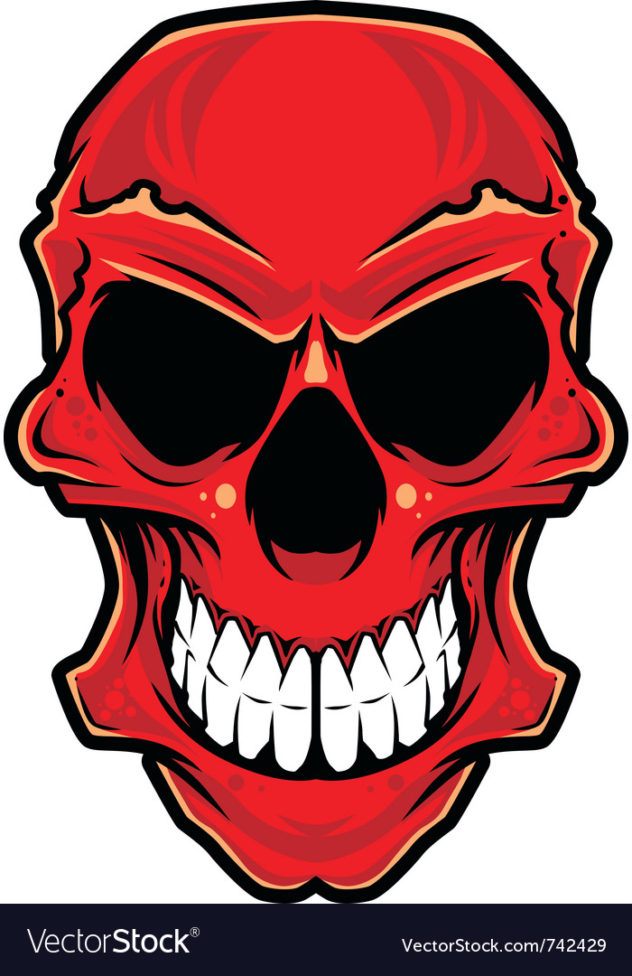 Angry skull vector image