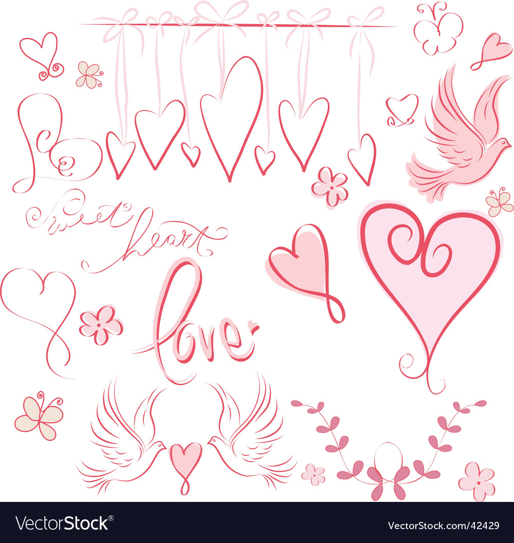 Whimsical valentine vector image