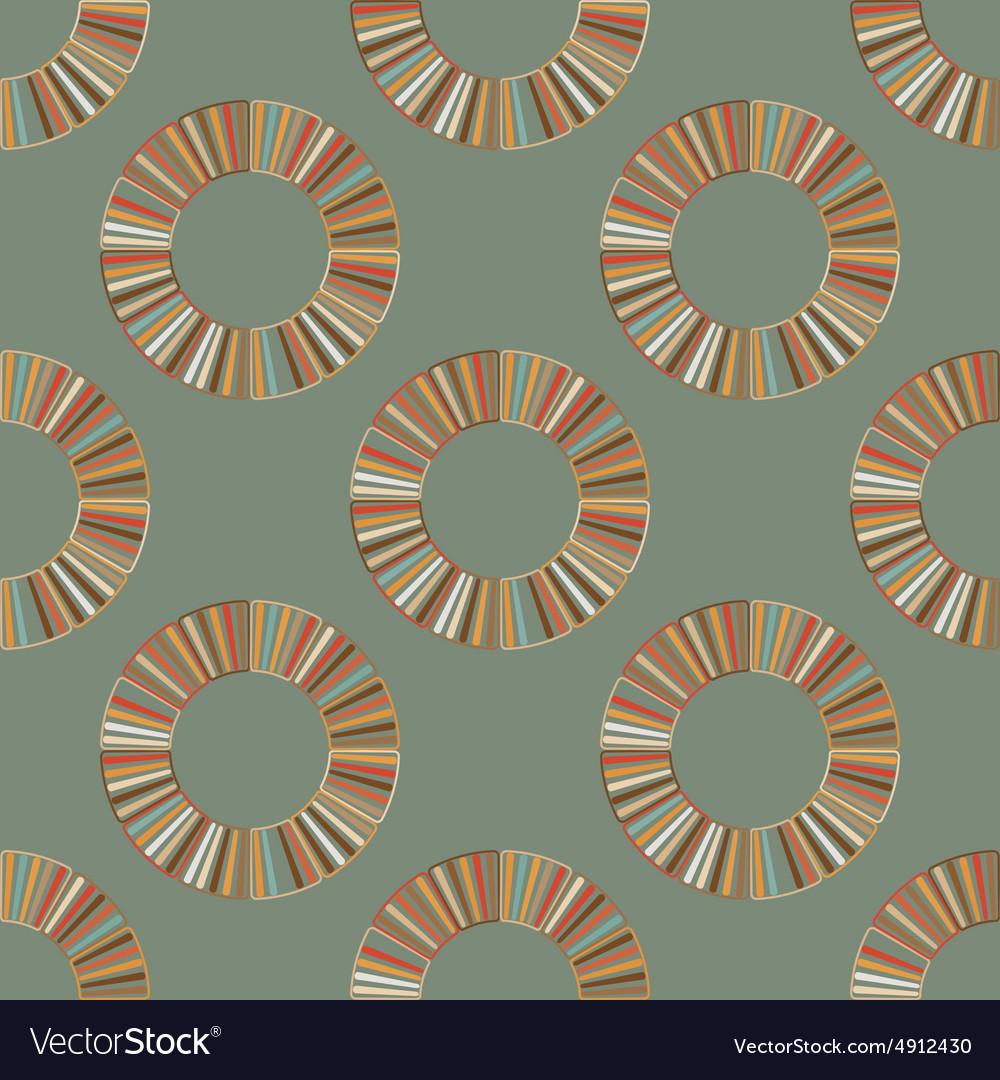 Seamless retro circular ornament vector image