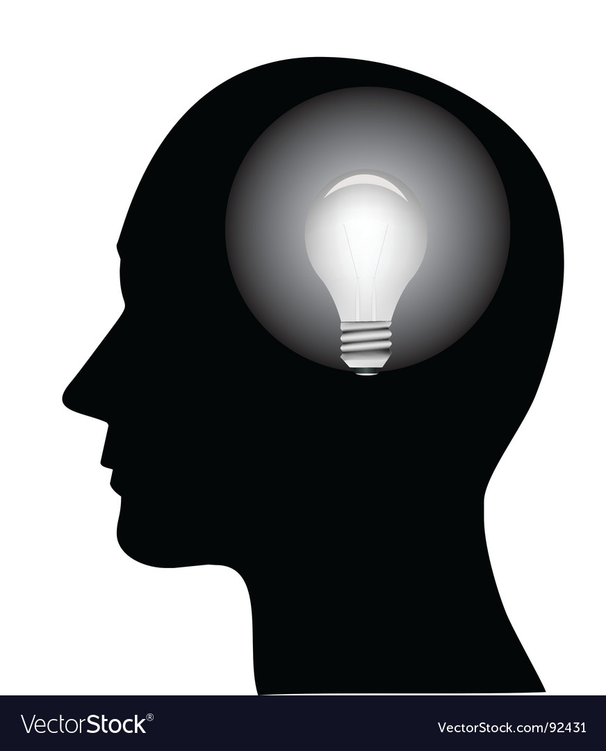 Concept of a bright idea vector image