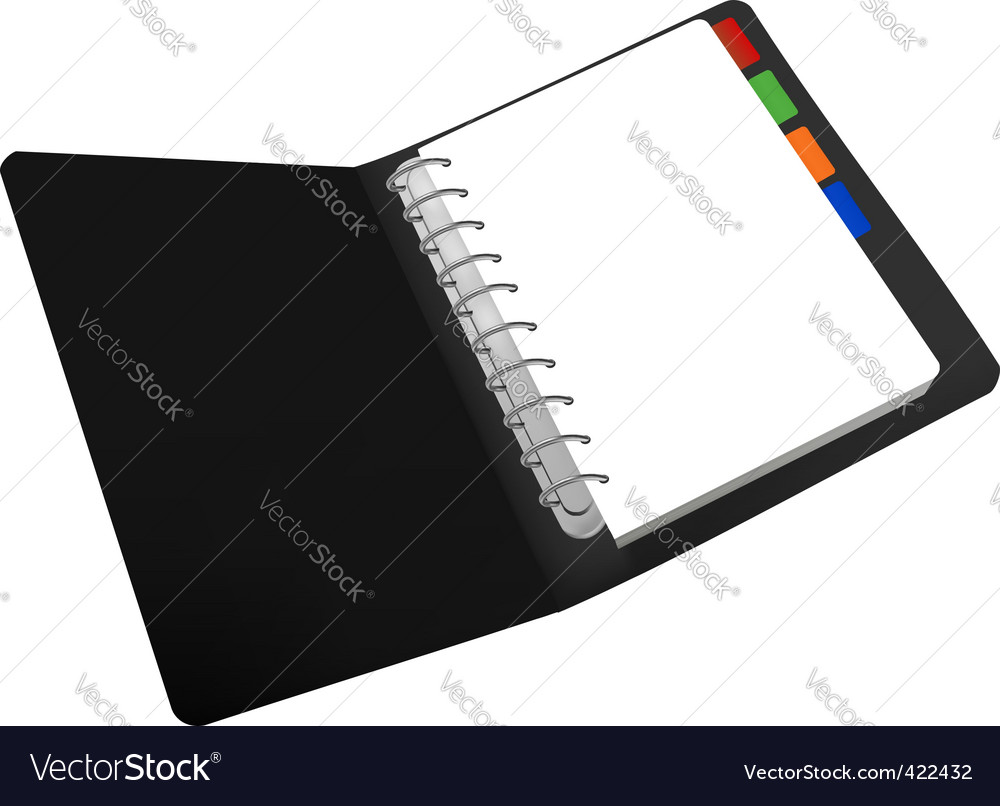 Black notepad vector image