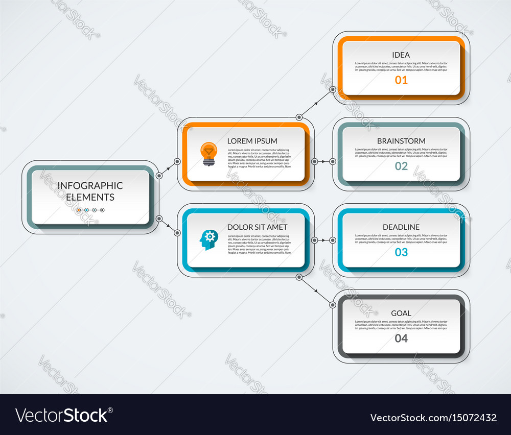 Infographic flow chart template royalty free vector image infographic flow chart template vector image pronofoot35fo Image collections