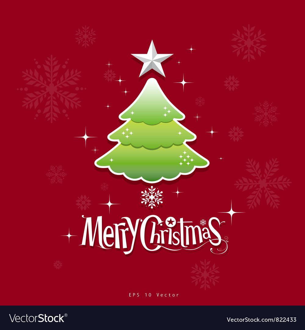 Christmas green tree design vector image