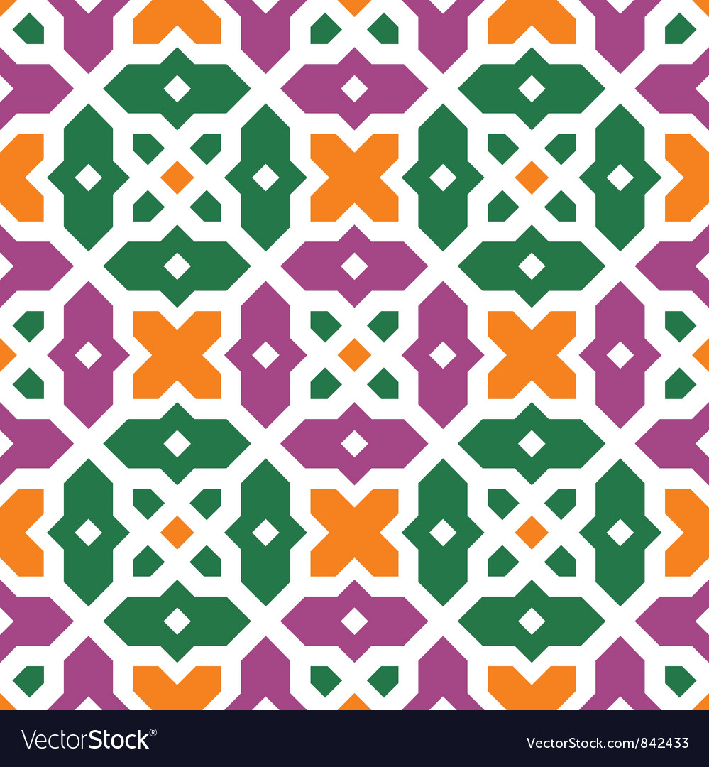 Traditional floral islamic ornament vector image