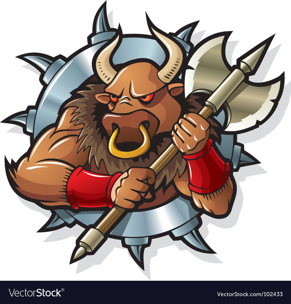 Myths minotaur vector image