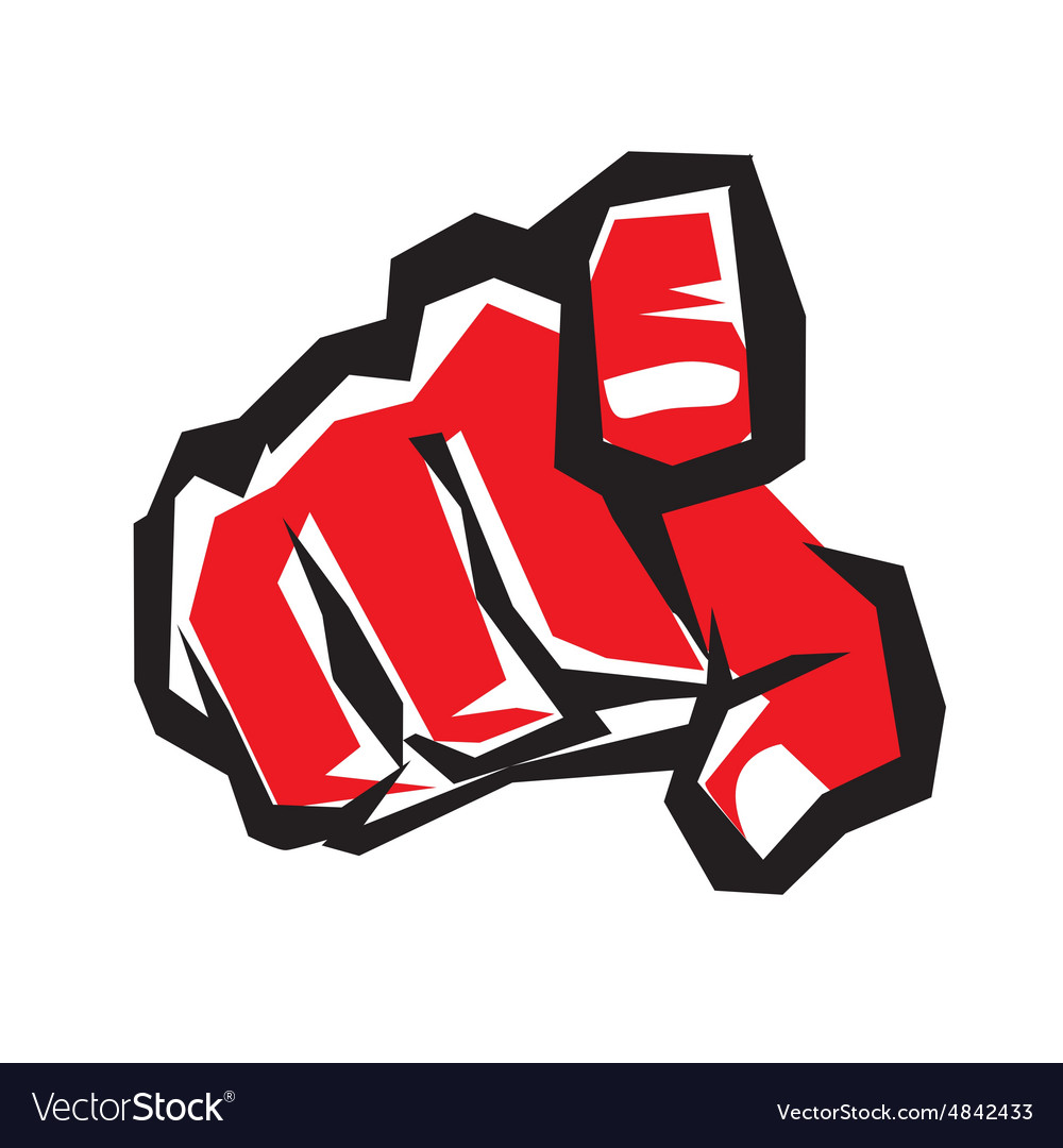Pointing finger or hand pointing symbol stylized vector image