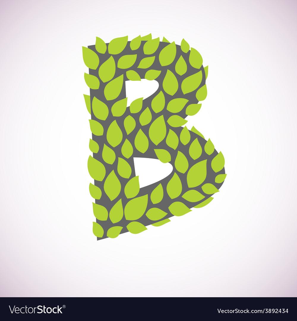 Letter like a bush vector image