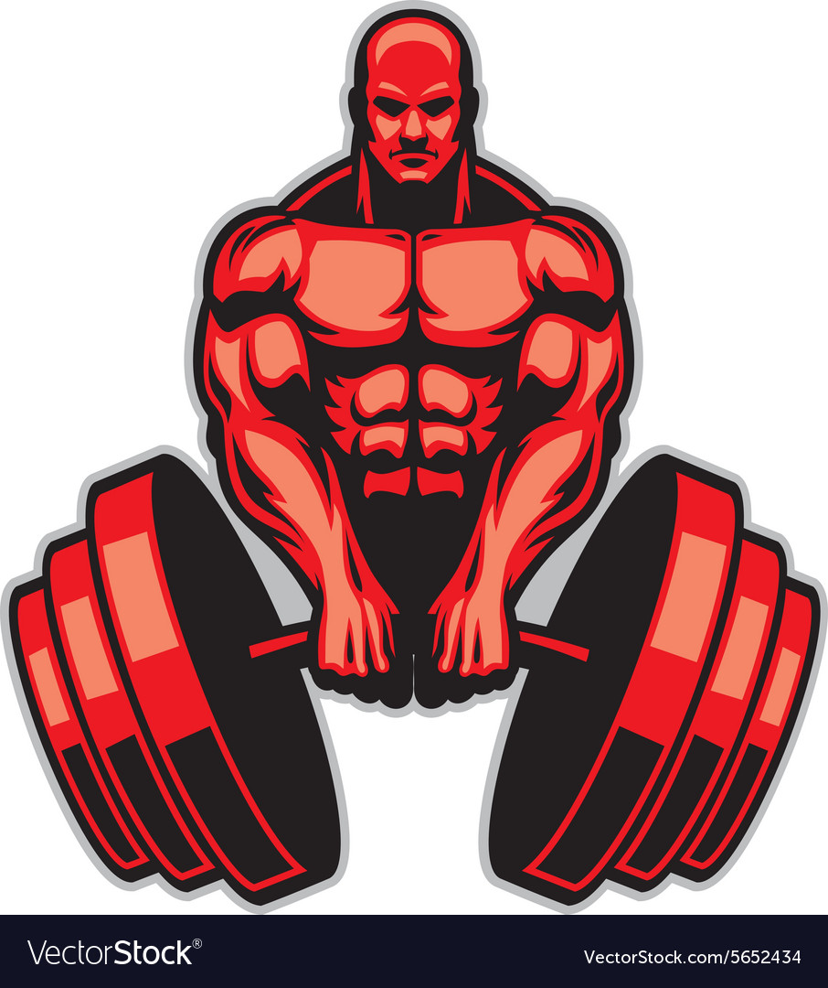 Muscle man bodybuilder Royalty Free Vector Image