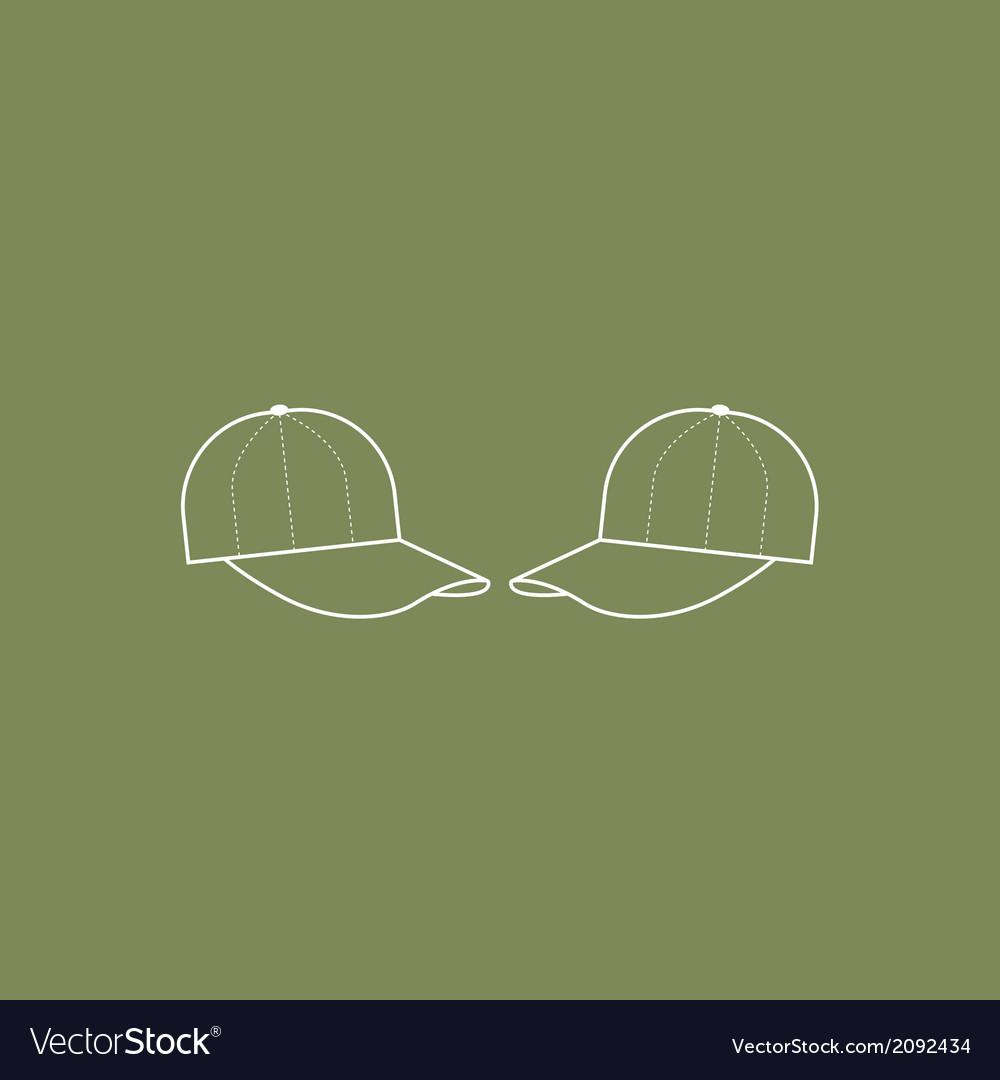 Two Cap Hat vector image