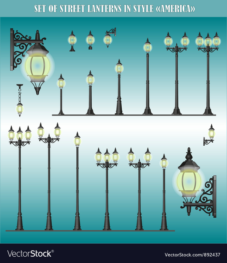 Street lanterns vector image