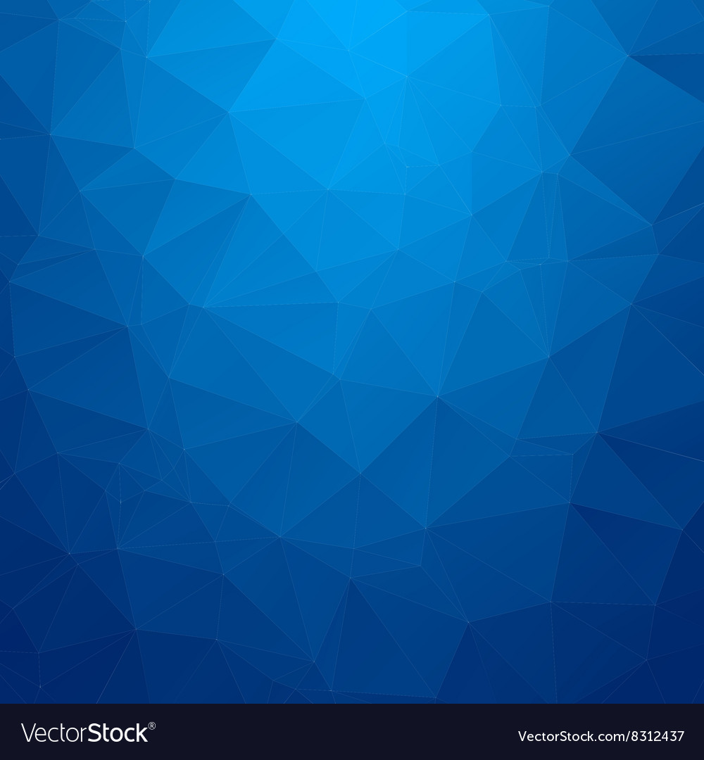 Abstract blue geometric triangle background vector image