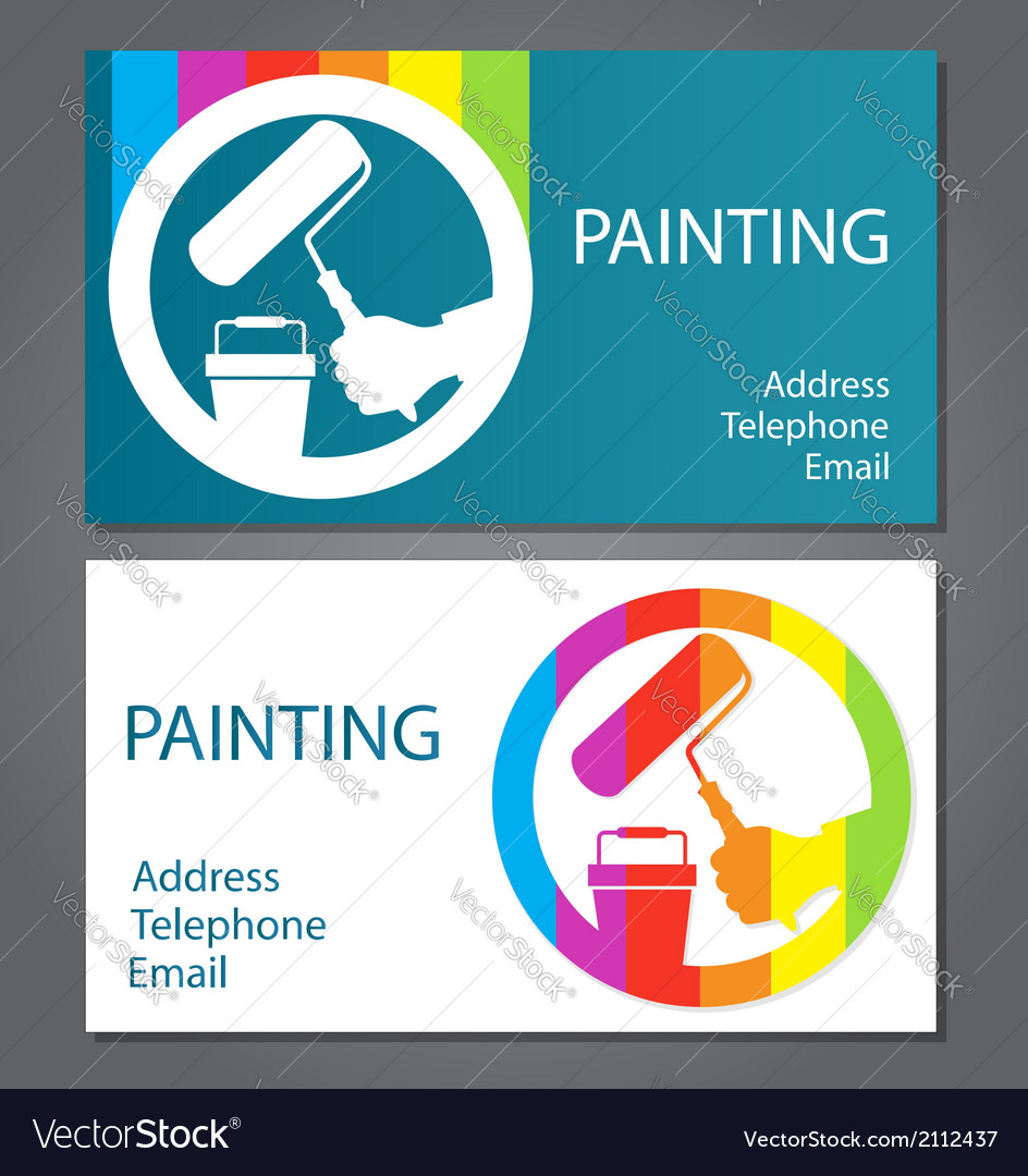 Business card for painting Royalty Free Vector Image